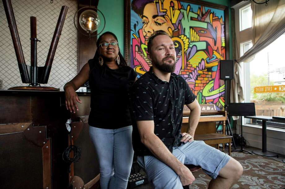 Keisha and Ryan Hazen are the owners of Cafeza in First Ward, a coffee shop and (in normal times) a live music venue. Photo: Brett Coomer, Staff Photographer / © 2020 Houston Chronicle