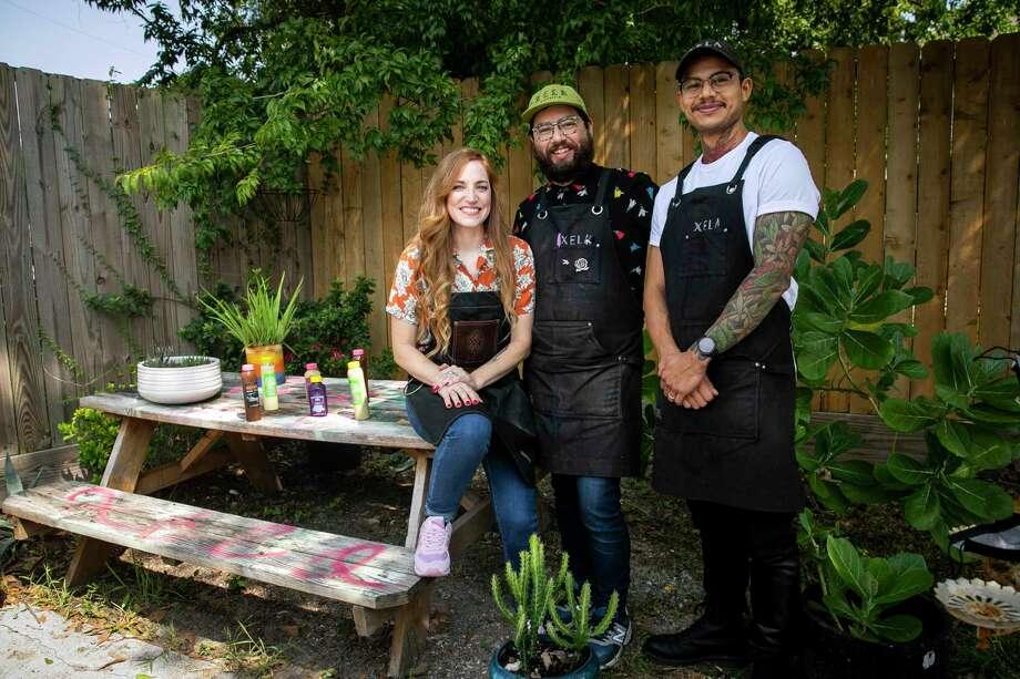 Xela Coffee Roasters owners Kaitlin O'Brien, Benji Aguilar and Robin Aguilar. Photo: Annie Mulligan, Contributor / © 2020 Annie Mulligan / Houston Chronicle