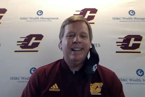 CMU football coach Jim McElwain addresses the media during a recent online press conference about the recently reinstated fall season.