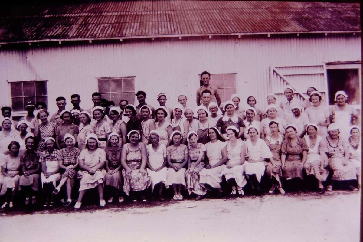 Cecil Brown Fig Plant employees pose in the 1930s.