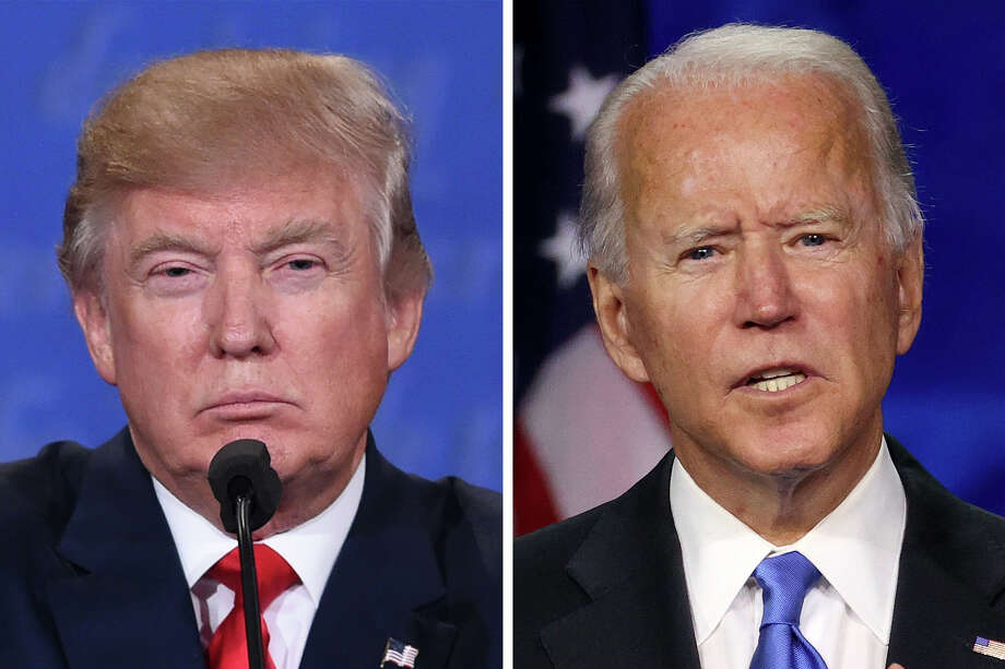 President Donald Trump and former Vice President Joe Biden will hold competing town halls at 8 p.m. EST (5 p.m. PST) on Thursday. Photo: Getty Images/Hearst Newspapers