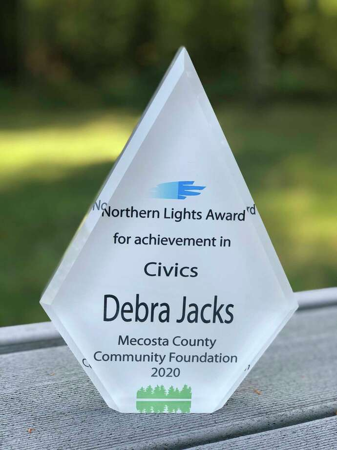 Awarded for theNorthern Lights Civics Award on Monday, Debra Jacks is known for her considerable contributions for the betterment of Mecosta County, according to her nomination. Her nomination also said Jacks is never in the limelight but always making a difference in her own way.(Courtesy photo)