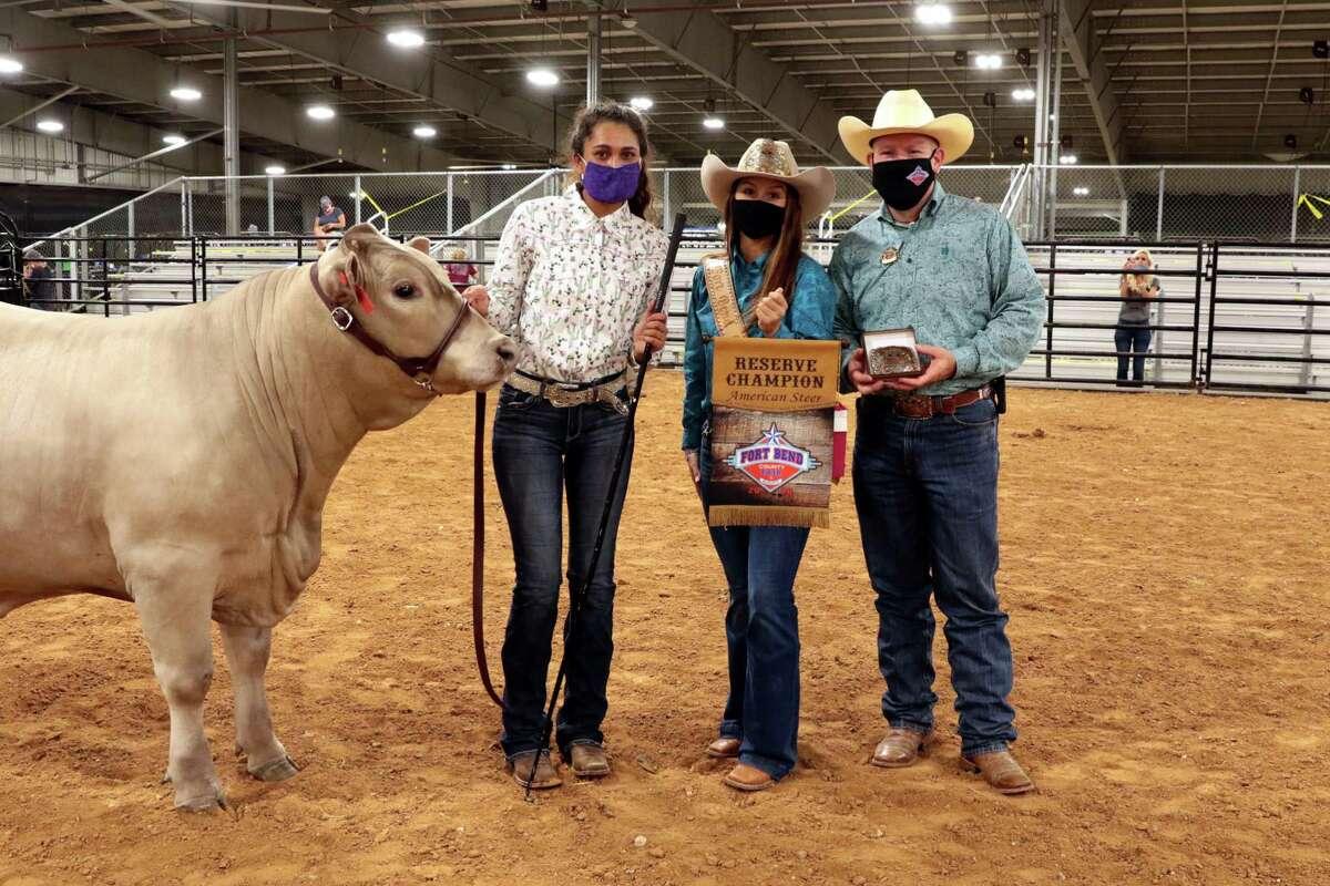 Jaya Koka of Ridge Point FFA named Reserve Champion American at the Fort Bend County Fair modified 2020 youth livestock show.