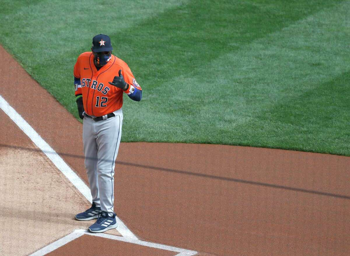 Astros manager Dusty Baker said he'd first savor his team's Game 1 win before deciding on a starting pitcher for Wednesday's Game 2 against the Twins.