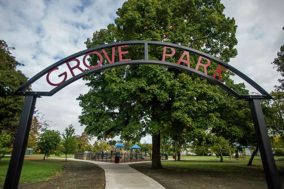 Grove Park, pictured on Tuesday, Sept. 29, 2020, has progressed toward the vision outlined in its master plan, as renovations took place this summer and more are planned for the spring. (Katy Kildee/kkildee@mdn.net)