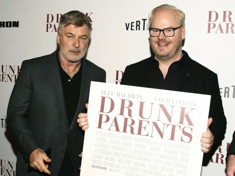 """Alec Baldwin, left, and Jim Gaffigan, right, attend the premiere of """"Drunk Parents"""" at the Roxy Cinema on Monday, March 4, 2019, in New York. Photo: Andy Kropa/Andy Kropa/Invision/AP / 2019 Invision"""