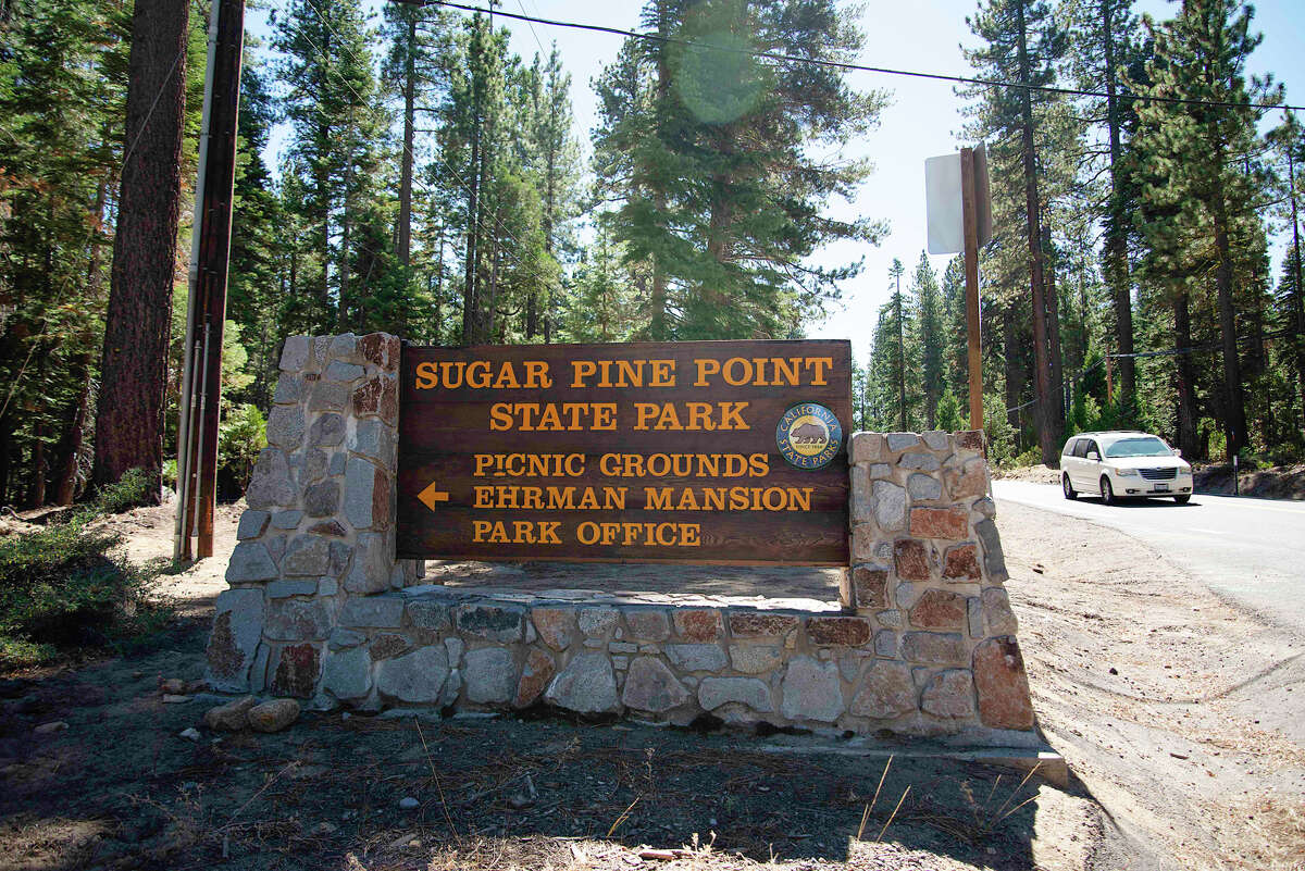 The sign of Ed Z'berg Sugar Pine Point State Park on Sept. 24, 2020.