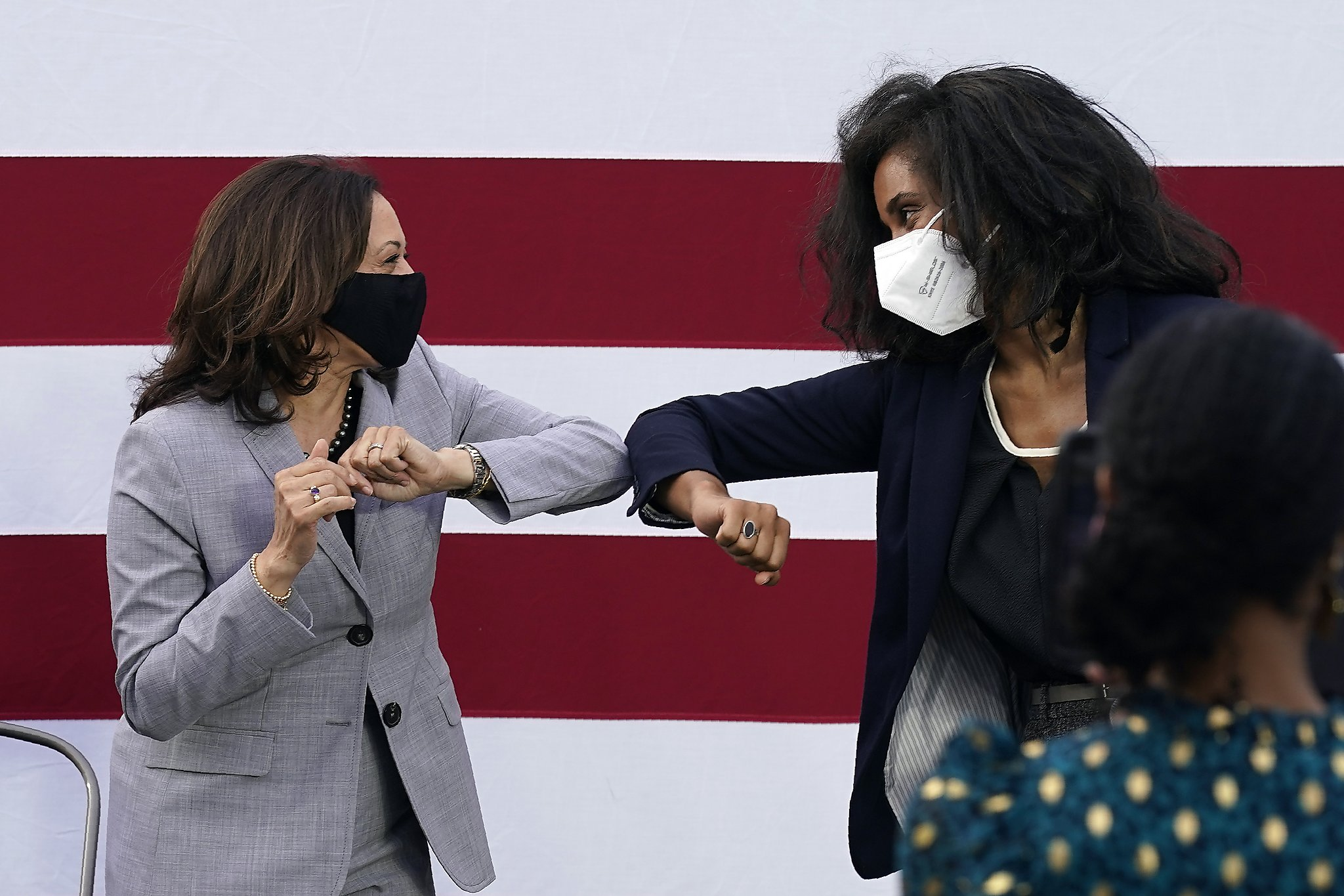 Kamala Harris sends message with her stops on abbreviated campaign trail