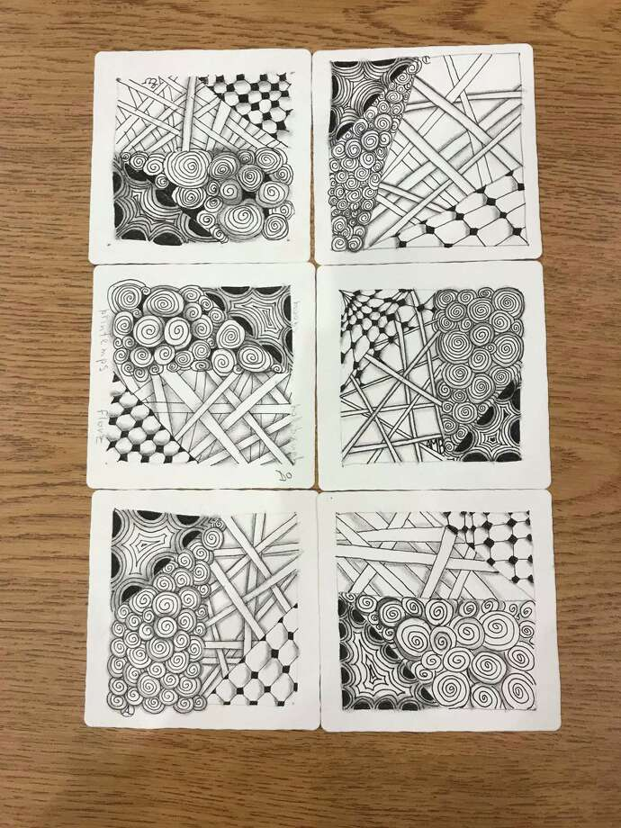 Zentangle Art Workshop: Zooming with Amy is on Oct. 14 at 3:30 p.m. and is for adults and teens, ages 13 and up. Registration required at wiltonlibrary.org. Photo: Contributed Photo / / Wilton Bulletin Contributed