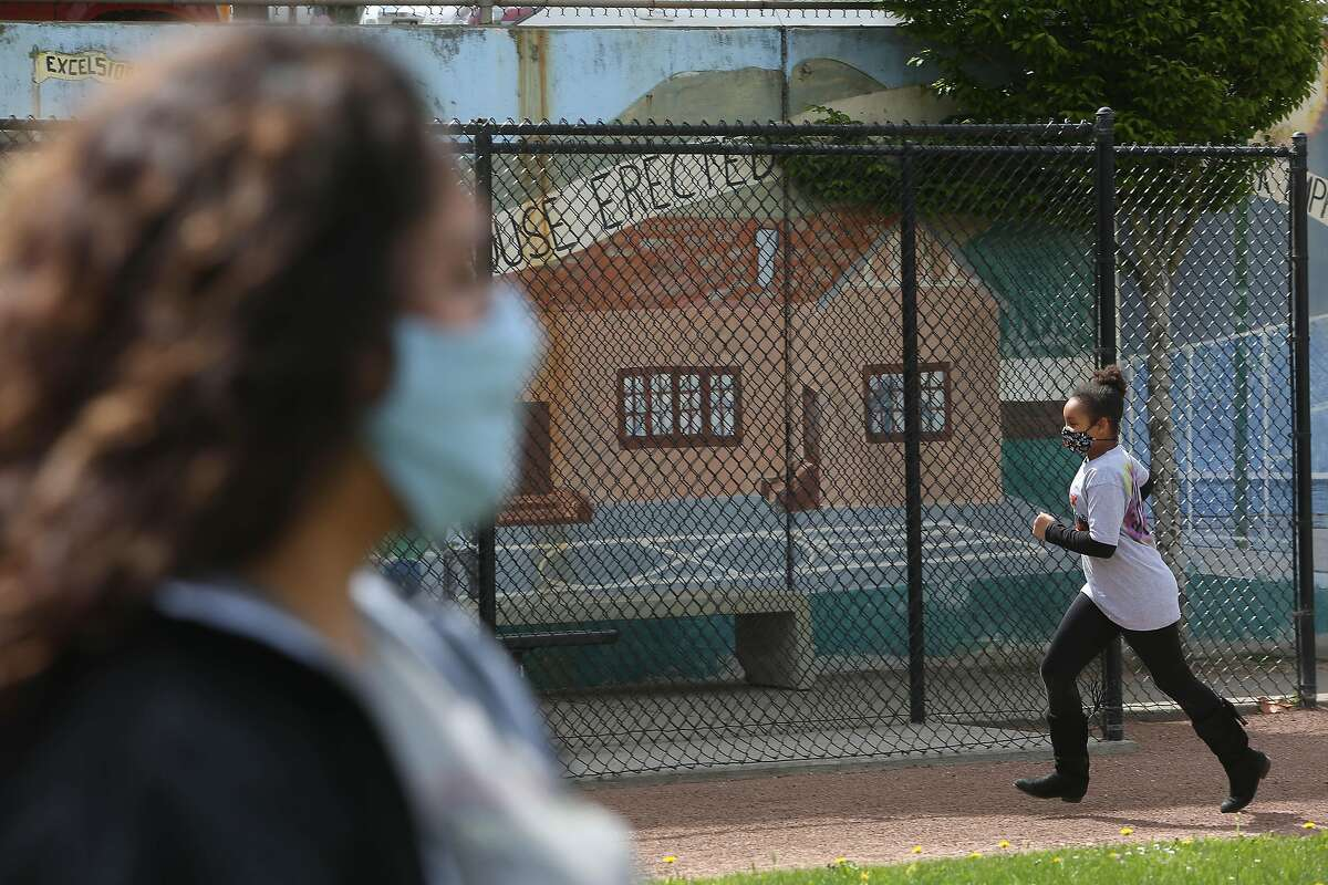 The Excelsior Playground in San Francisco is among the many that have been off-limits during the pandemic that are being allowed to reopen.