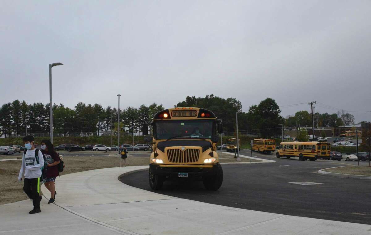 Students returned to Ralph M. T. Johnson Elementary School for fully in-person classes on Tuesday morning. September 29, 2020, in Bethel, Conn.