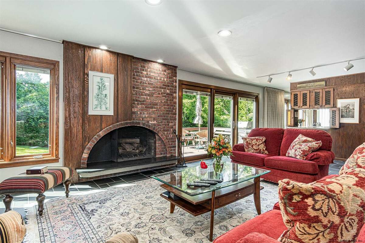 Scroll through the photos below to take a look inside five homes currently on the market in the Capital Region, each featuring a unique and beautiful fireplace.