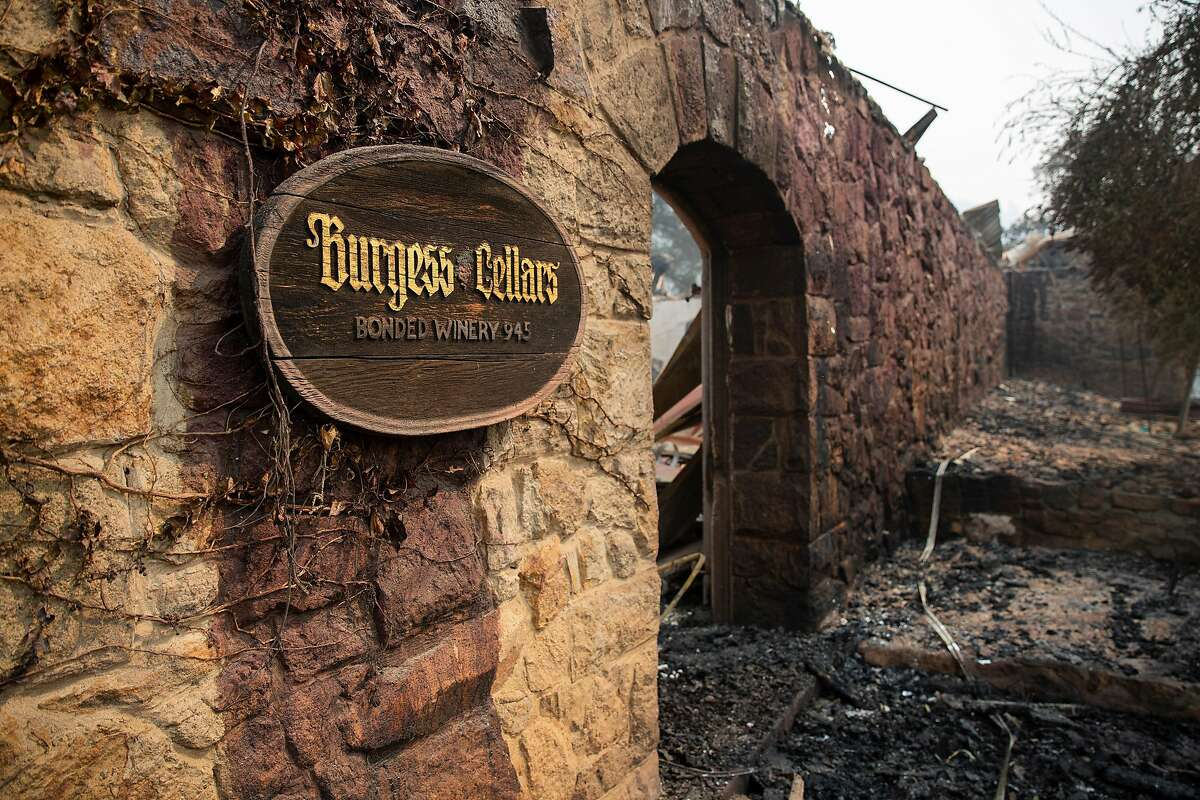 One of several building at the Burgess Winery were burned down during the Glass Fire in Calistoga, Calif. on Tuesday, Sept. 29, 2020