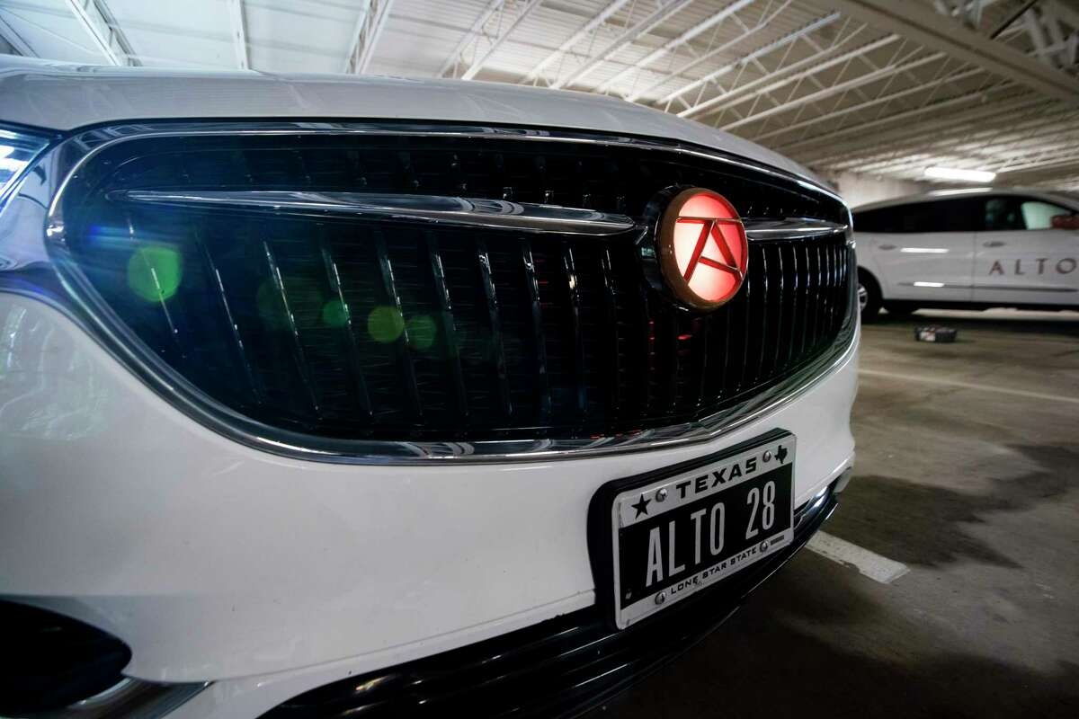 ALTO, a Dallas-based company, is rolling out a new ride-hailing service in Houston this week. The company uses uniform vehicles, a fleet of Buick Enclaves photographed Wednesday, Sept. 23, 2020, in Houston.