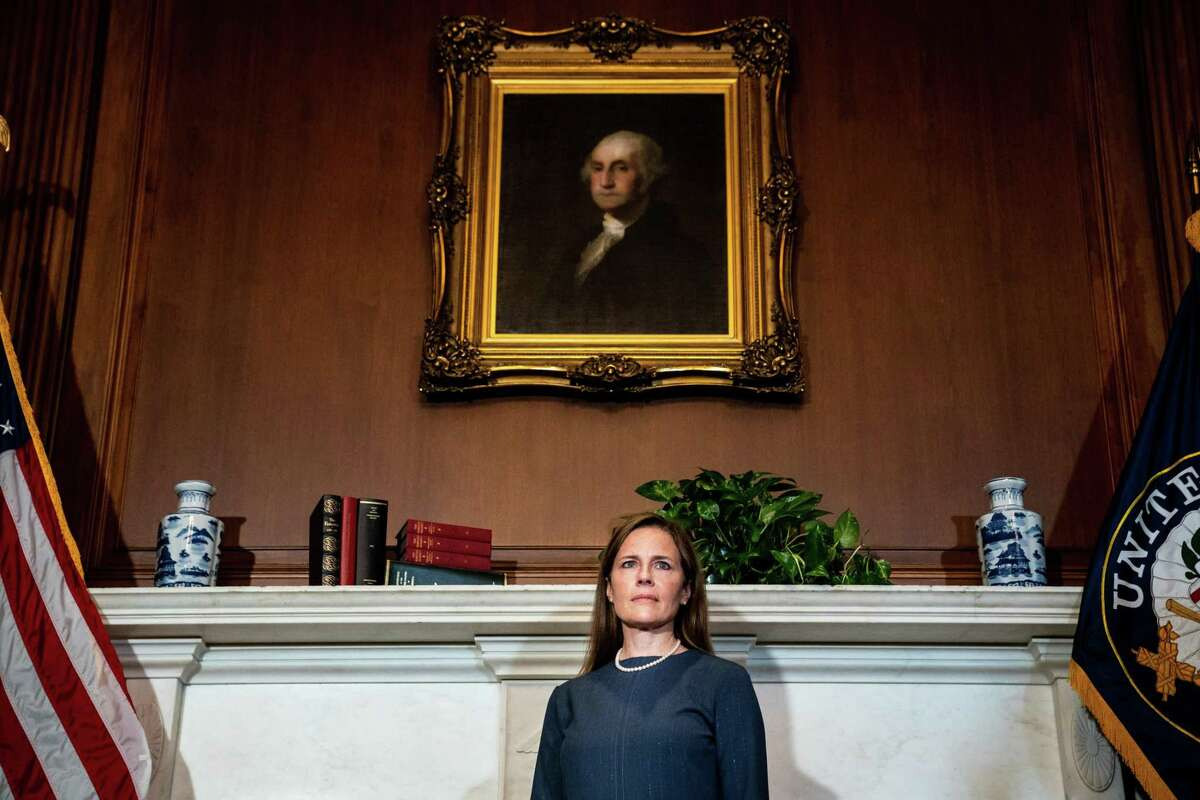 Amy Coney Barrett, President Donald Trump's nominee to the Supreme Court, at the Capitol in Washington, Tuesday, Sept. 29, 2020. (Erin Schaff/The New York Times)