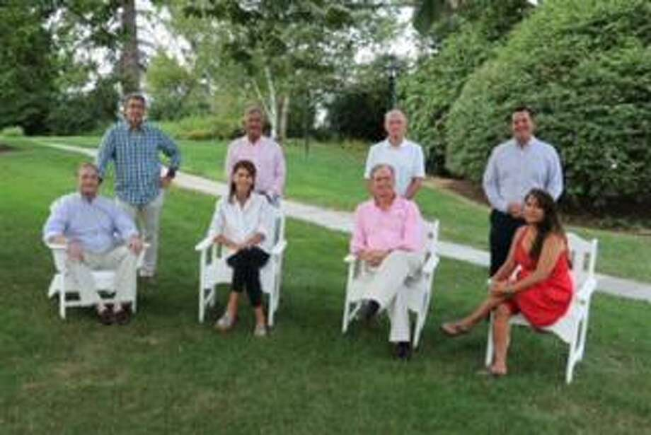 The New Canaan Recovery Corps has formed to help deal with substance abuse questions. Seated, from left, are Stephanie Hazard, RCP; Andrew Hersam, RCP; Jacqueline Calayag, RCP. Standing are Doug Hurwitt; Jack Claydon; Chappy LeBlond, Sr; and Brian Nash, RCP. Lesley Hartnett, RCP, is also with the program. Photo: New Canaan Recovery Corps / Contributed Photo / New Canaan Advertiser Contributed