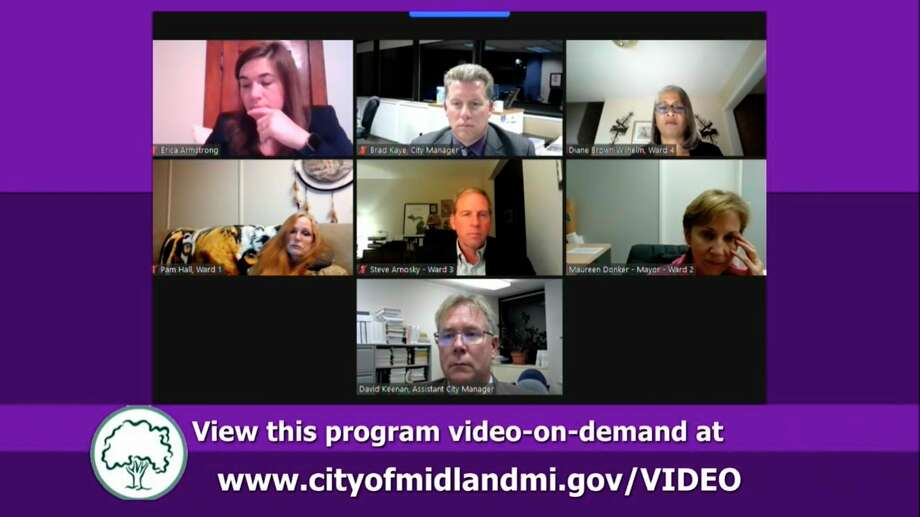 Midland City Council met virtually Monday, Sept. 28. (Screen photo/MCTV)