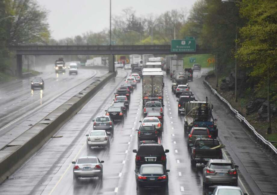 File photo of traffic backed up on Interstate 95. Photo: Tyler Sizemore / Hearst Connecticut Media / Greenwich Time