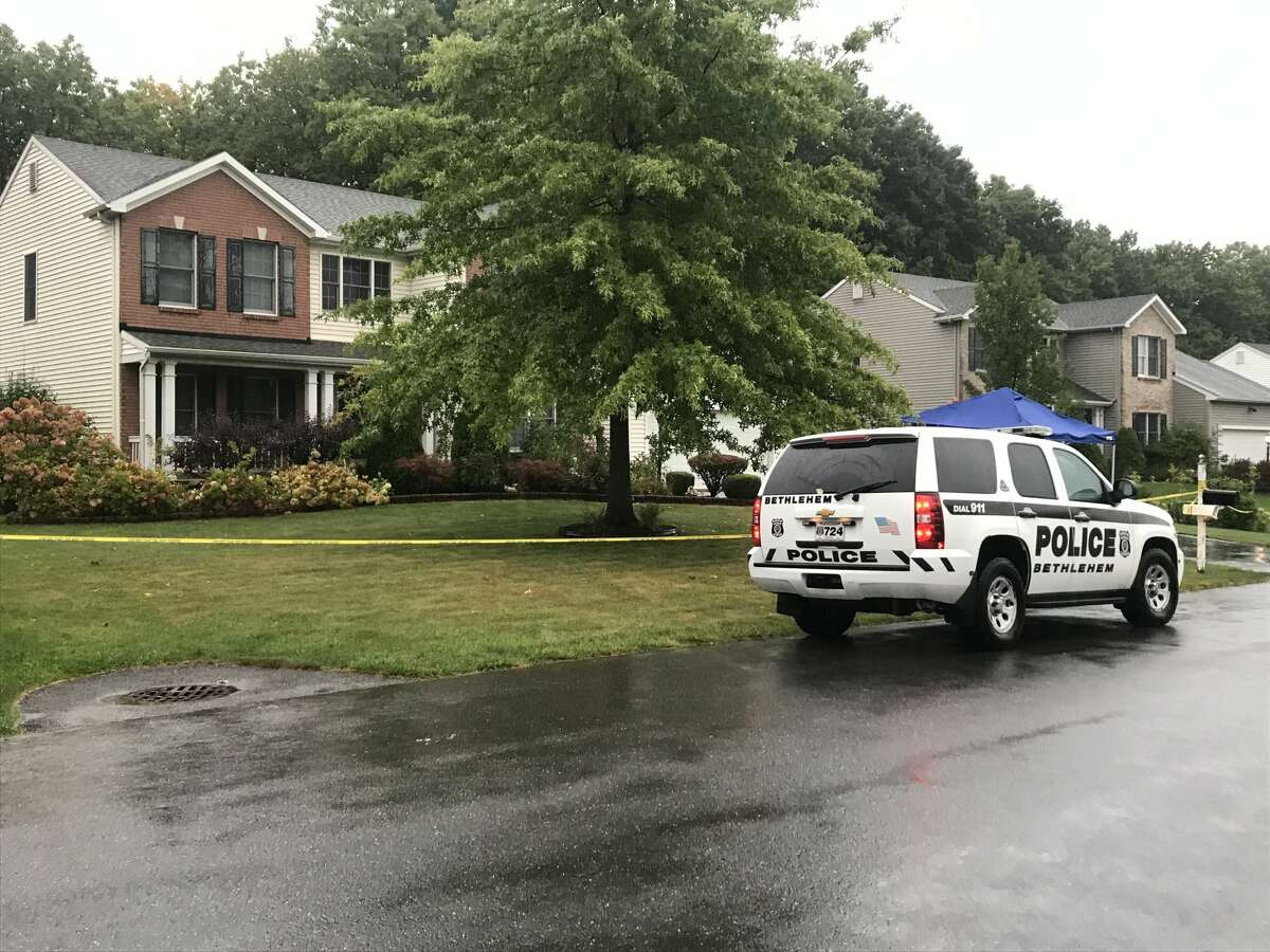 The day after at least one person died, police patrols remain at 56 ChesterwoodDrive in Bethlehem.