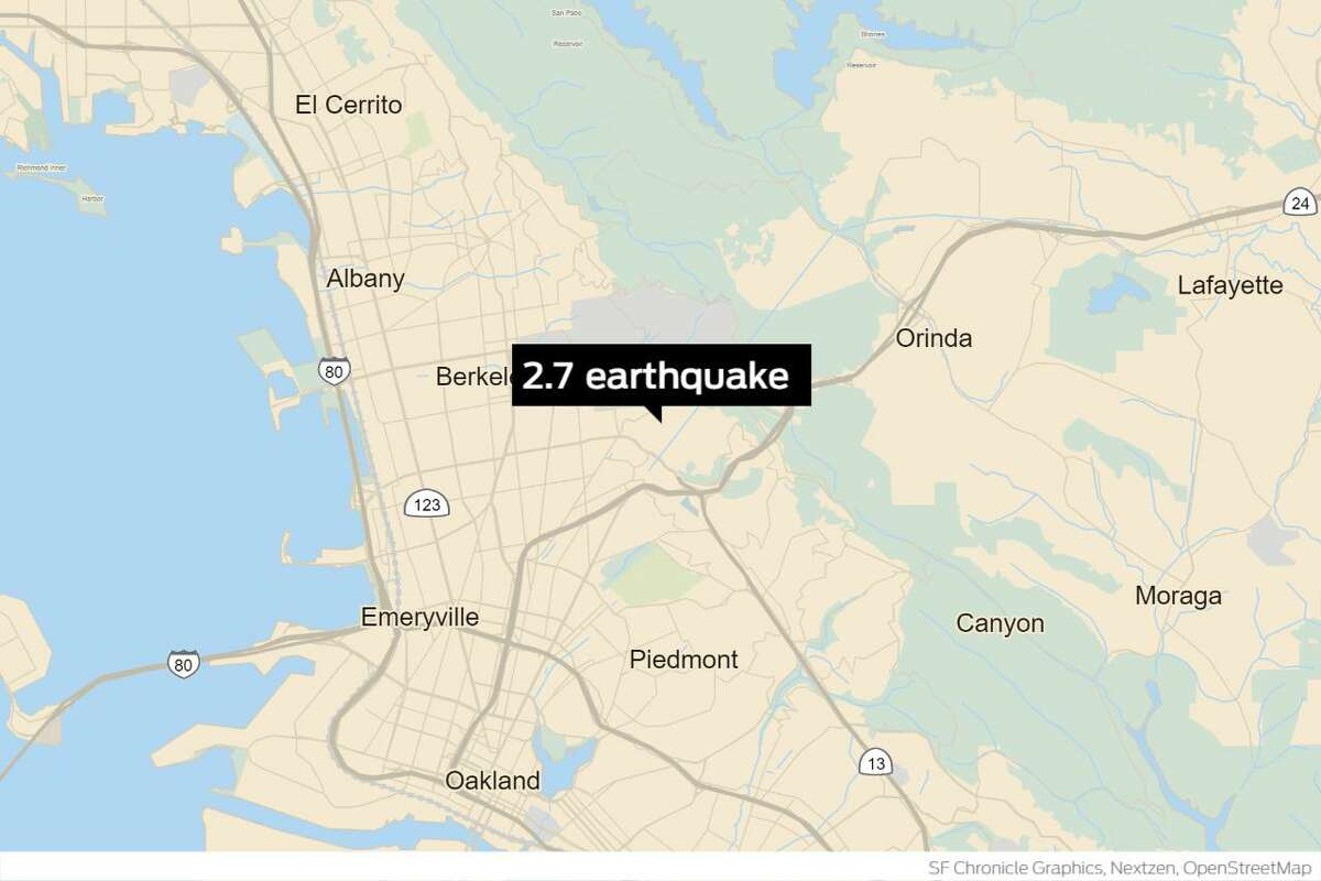 A 2.7-magnitude quake struck near Berkeley Wednesday morning.