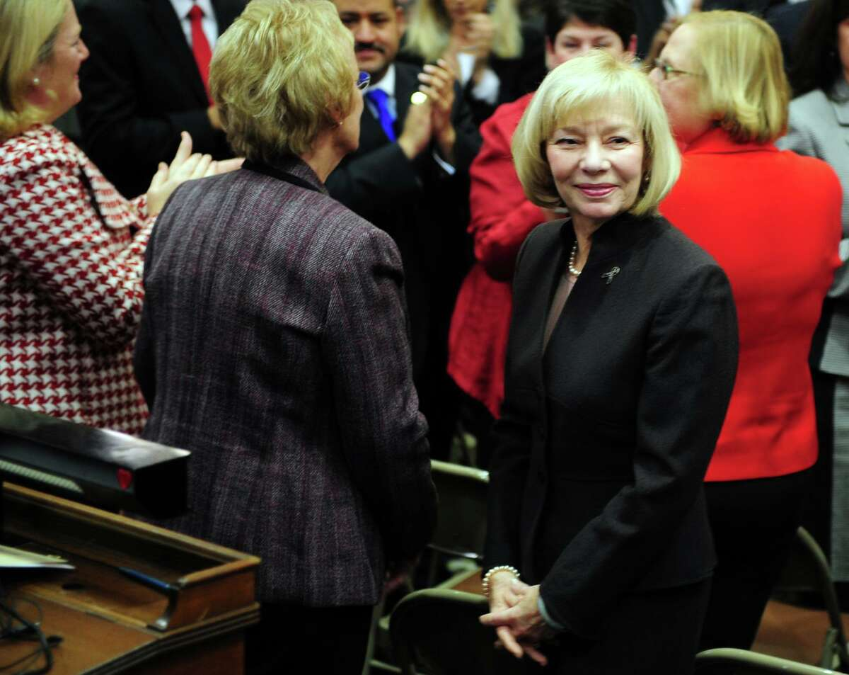 Newtown Superintendent of Schools Janet Robinson at the opening day of the State Legislature in Hartford, Conn. Wednesday, Jan. 9, 2013. Robinson has won praise for her leadership of the school district in the trying days after the Sandy Hook school massacre, but she now is in danger of losing her job. Her stormy relationship with the board chairman, which had been soothed over during the weeks after the shooting, has been reignited.