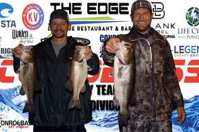 Langston Johnson and Cody Hall won the CONROEBASS Tuesday Night tournament with a stringer weight of 11.02 pounds.