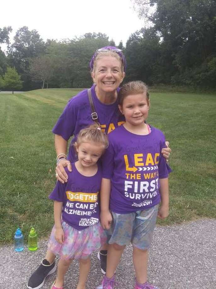 Kare Brown Carter and family participate in this year's Edwardsville Walk to End Alzheimer's. Photo: For The Intelligencer