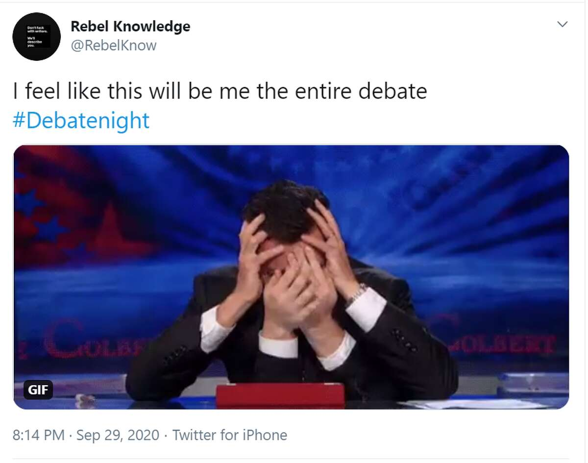 This Twitter reaction pretty much sums up how many felt watching the presidential debate last night.