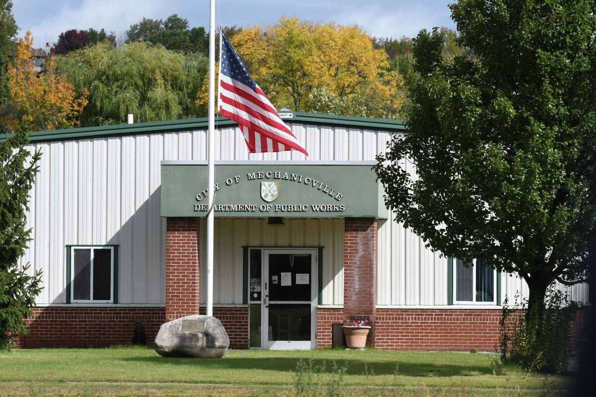 Mechanicville Department of Public Works offices on Wednesday, Sept. 30, 2020, in Mechanicville, N.Y. A former city employee is accusing the city's elected Commissioner of Public Works Anthony Gotti of a host of troubling allegations.