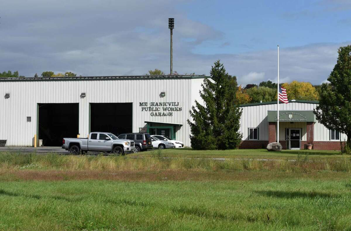 Mechanicville Department of Public Works offices and garage on Wednesday, Sept. 30, 2020, in Mechanicville, N.Y. A former city employee is accusing the city's elected Commissioner of Public Works Anthony Gotti of a host of troubling allegations.