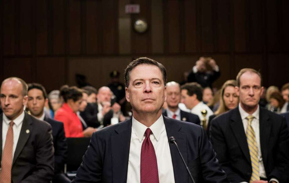 Former FBI director James Comey, seen here during testimony before the Senate Intelligence Committee in 2017. Photo: Washington Post Photo By Melina Mara. / The Washington Post