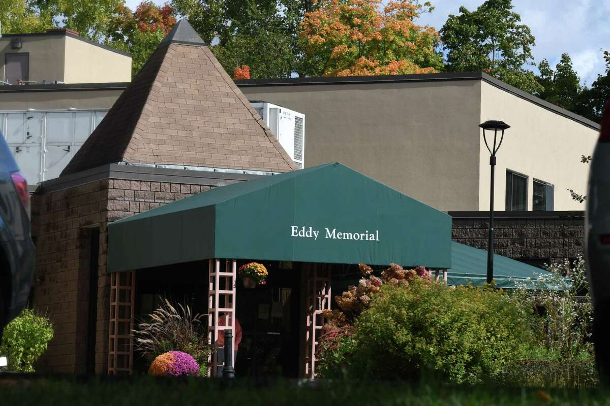 Eddy Memorial Geriatric Center on Wednesday, Sept. 30, 2020, in Troy, N.Y. The facility is one of three Capital Region nursing facilities recently fined by the New York State Department of Health for COVID-19 safety violations. (Will Waldron/Times Union)