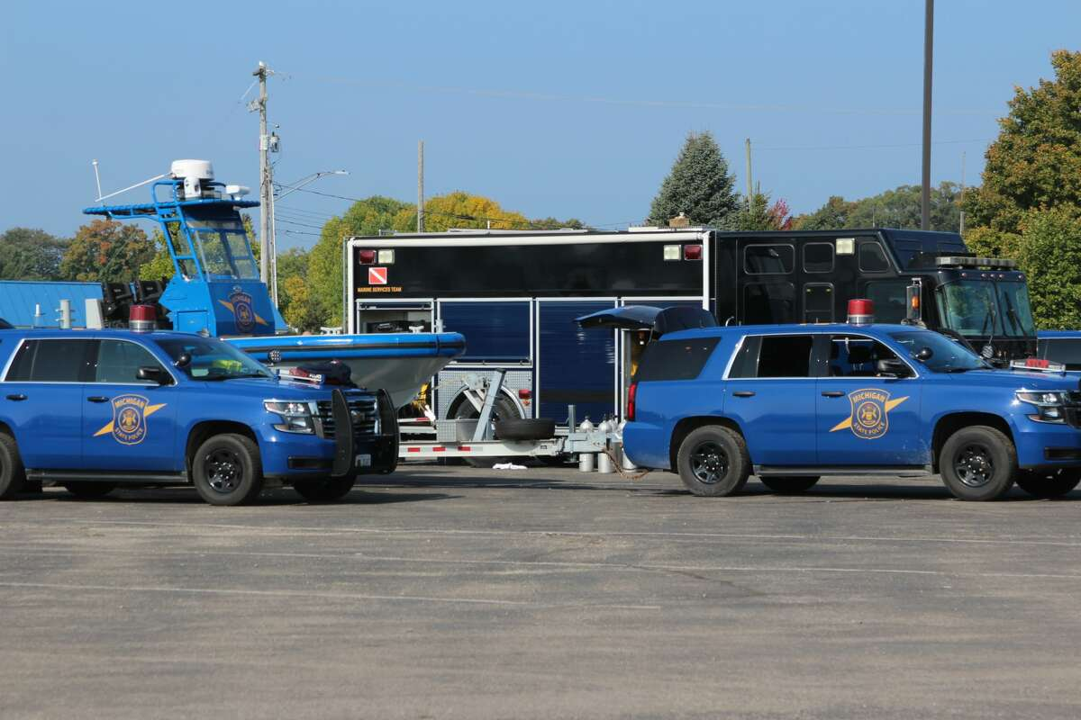The State Police Marine Services Team helped search for a boy who washed off the pier in Frankfort on Sept. 21.