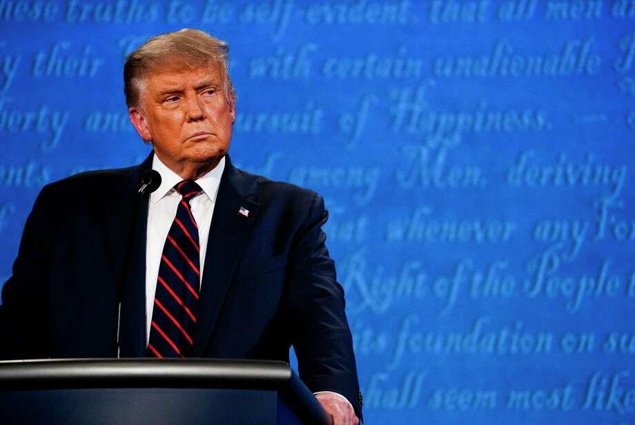 President Donald Trump at the first 2020 presidential debate in Cleveland. Photo: Washington Post Photo By Melina Mara / The Washington Post