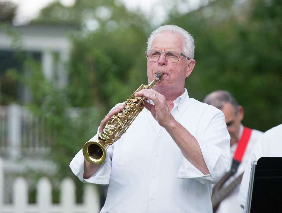 Greg Zaic plays the clarinet with the Catoonah Street Jazz & Blues Society at St. Stephen's Nutmeg & Neighbors BBQ on Saturday, September 26, 2020 in Ridgefield, Connecticut. The event was also streamed live on Facebook. Greg Zaic plays the clarinet with the Catoonah Street Jazz & Blues Society at St. Stephen's Nutmeg & Neighbors BBQ on Saturday, September 26, 2020 in Ridgefield, Connecticut. The event was also streamed live on Facebook. Photo: Bryan Haeffele / Hearst Connecticut Media / Hearst Connecticut Media / Hearst Connecticut Media