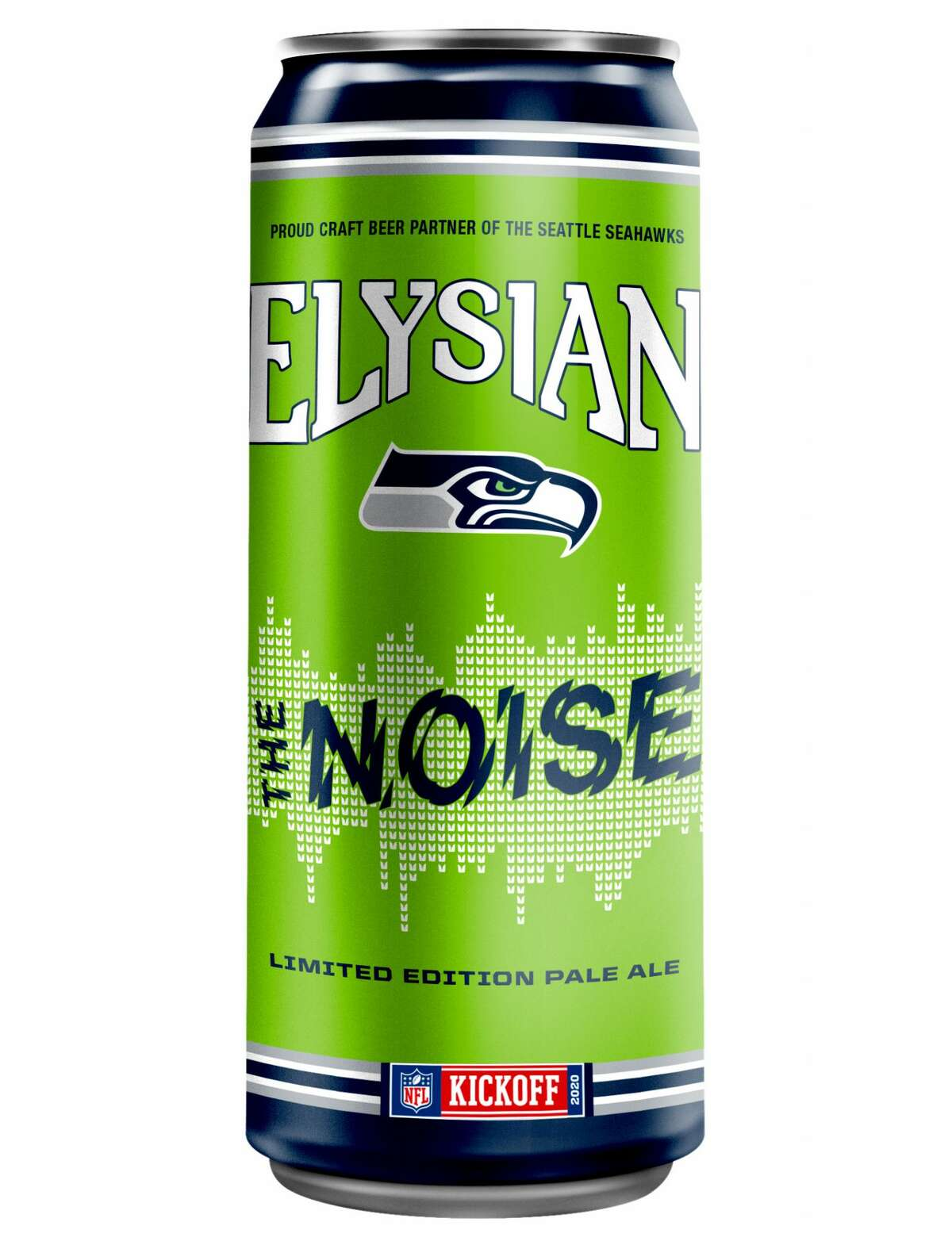 """Seattle's beloved Elysian brewing has launched a Seahawks-specific brew for all manner of at-home tailgating. The name of the beer is an homage to Seattle's fans, given the Seahawks' """"12s"""" -- or the fans as the twelfth man on the field -- have broken the Guinness Book record for the loudest roar at a sports stadium. The pale ale features hints of citrus, candied orange, and vanilla. The craft beer partner of the Seattle Seahawks, a portion of all net proceeds from every can and pint of The Noise sold goes to help eliminate homelessness through Plymouth Housing."""