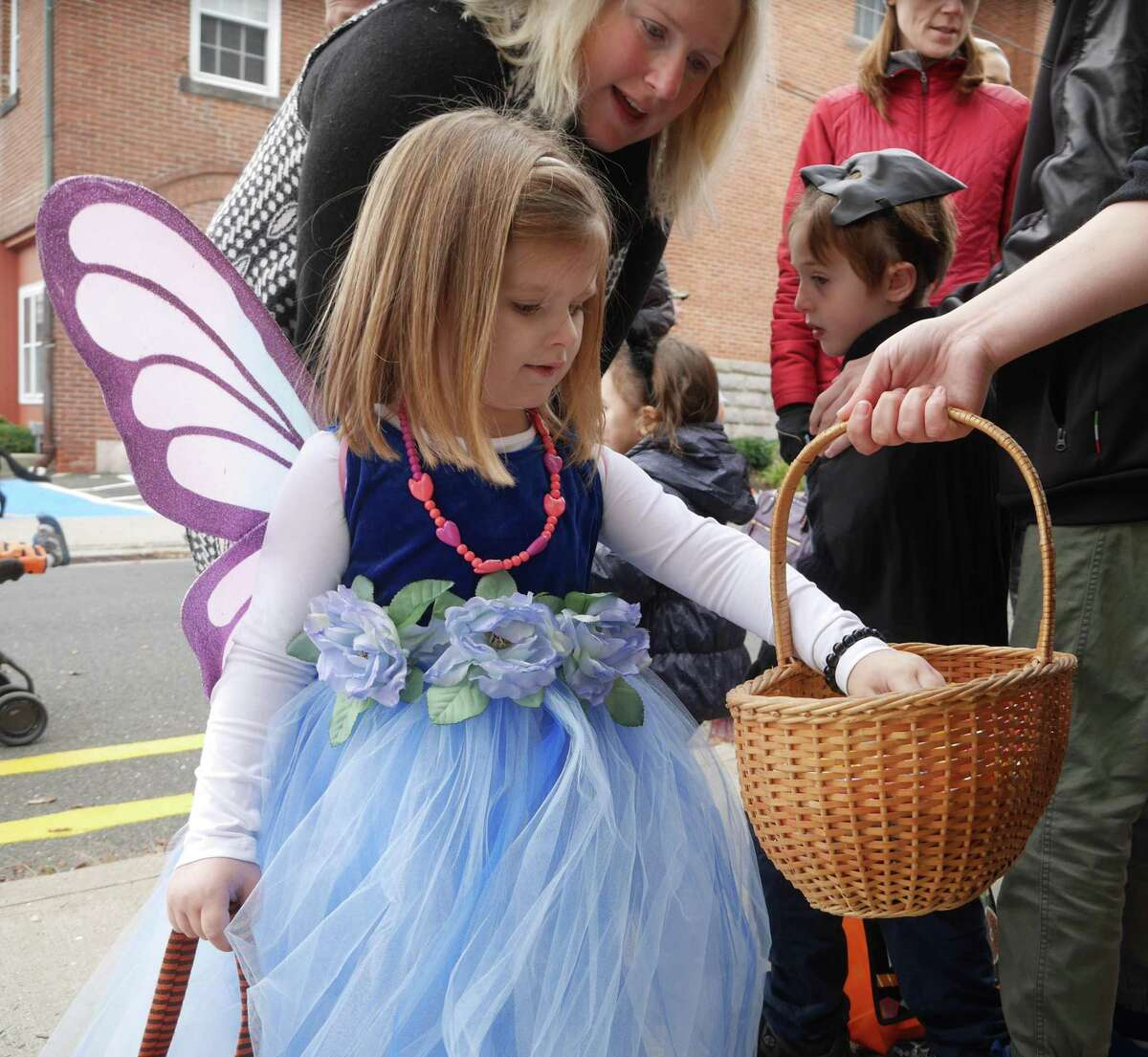 This winged fairy was photographed at the Halloween Walk in 2016.
