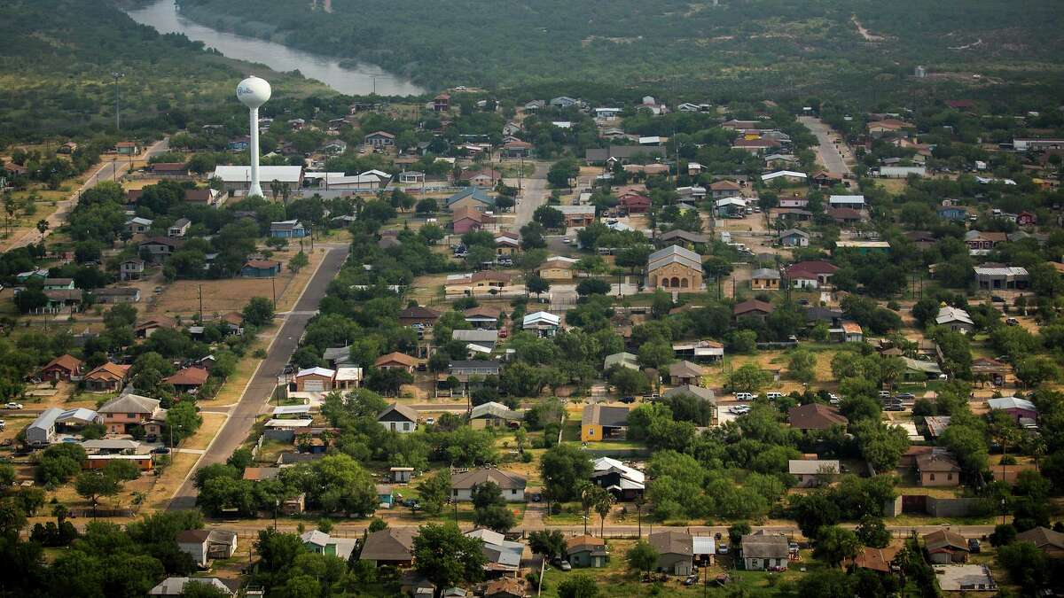 An aerial view shows the city El Cenizo, Texas, on the banks of the Rio Grande on Thursday, May 11, 2017.