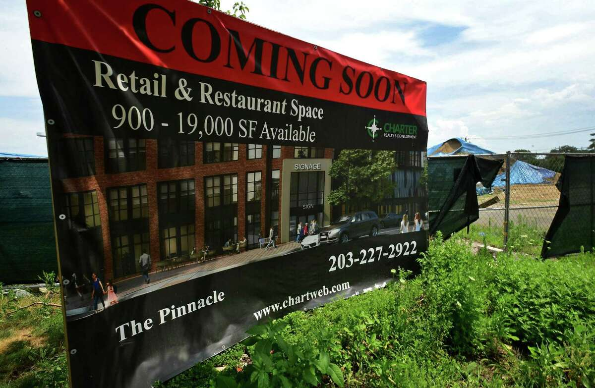 The former Loehmann's Plaza at 457 West Ave. Wednesday, July 17, 2019, in Norwalk, Conn. The developer of the Waypointe is unveiling updated plans for the old Lohemann's furniture site.
