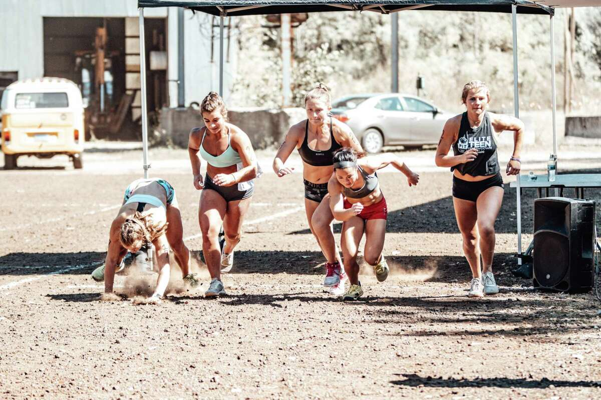 Greenwich resident Brady Wallace, second from the left, recently competed in the Elite Teen Throwdown, sanctioned by the CrossFit Games, in Michigan.