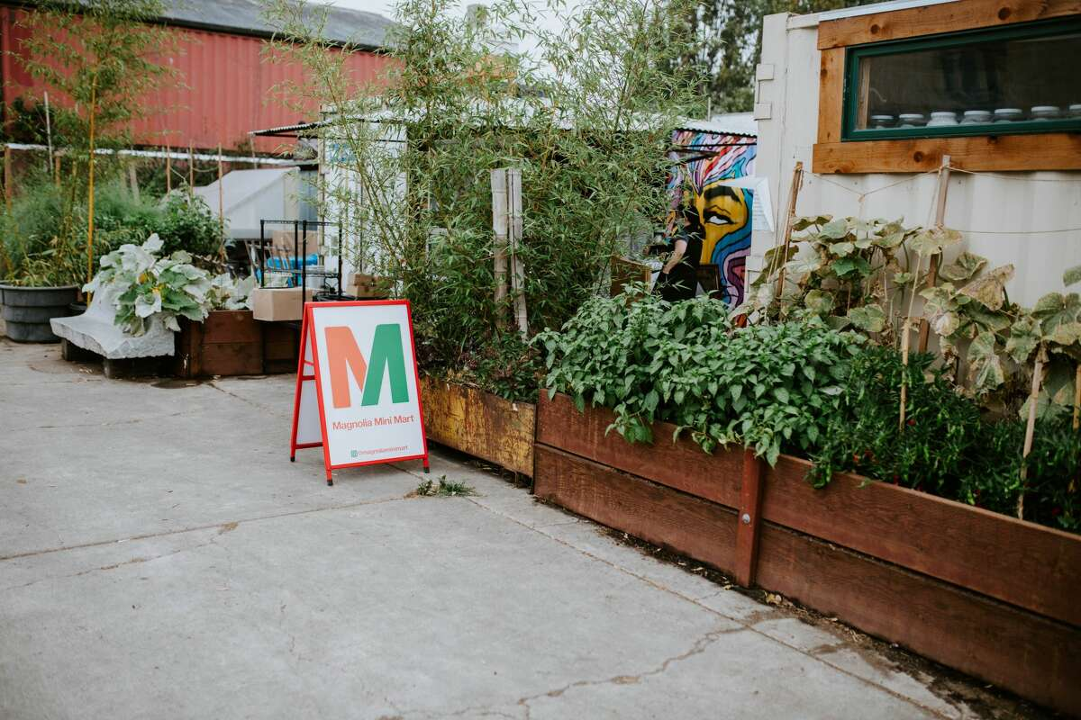 Magnolia Mini Mart, a pint-sized market in a converted shipping container in West Oakland, sells produce, snacks, and trendy pastries from local Bay Area vendors.