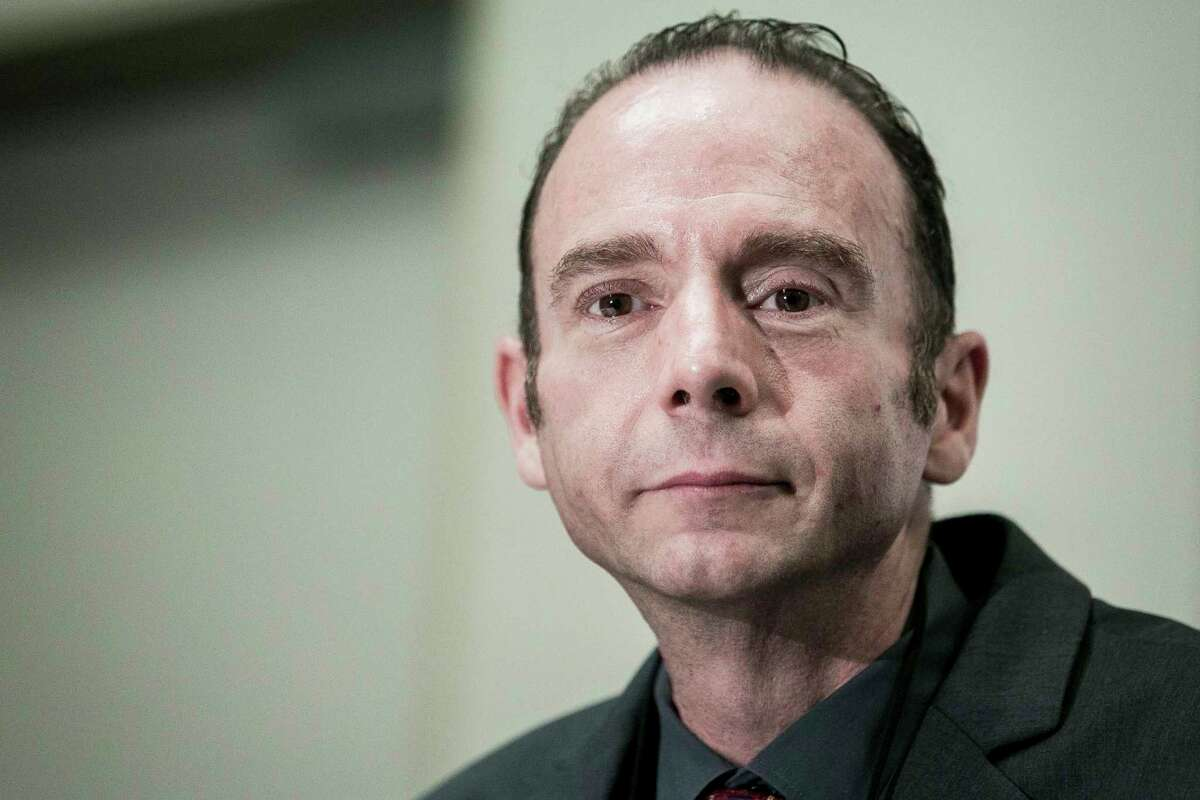 Timothy Ray Brown holds a 2012 press conference in Washington, D.C., to launch the Timothy Ray Brown Foundation to focus efforts on finding a cure for HIV and AIDS.