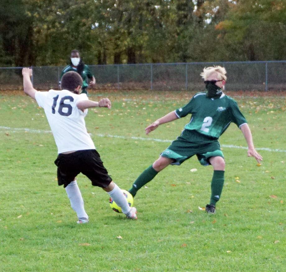 Pine River's soccer team hosted Cheboygan on Wednesday night. Photo: Pioneer Photos/Joe Judd