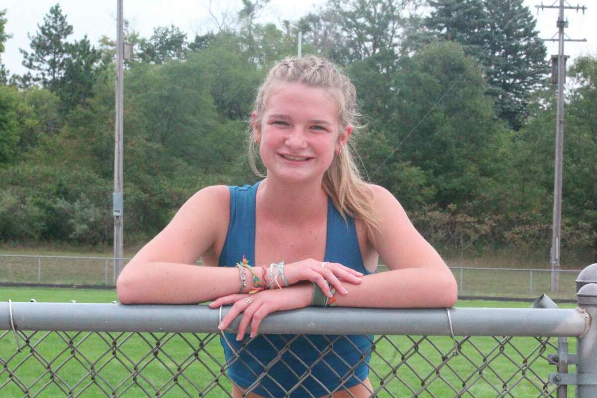 Aivery Devereaux is among Morley Stanwood's top runners this fall. (Pioneer photo/John Raffel)
