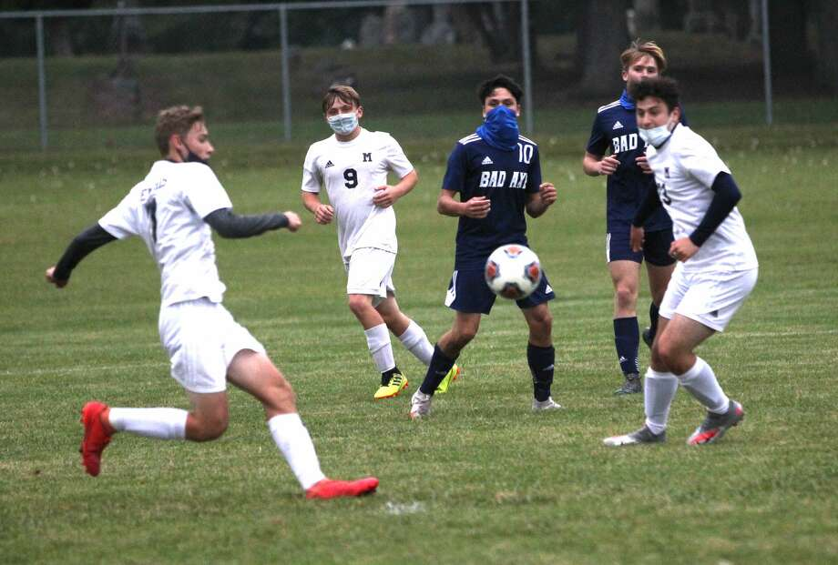 The Bad Axe boys soccer team improved their record to 6-1-1 on Wednesday evening as the they beat the visiting Memphis Yellowjackets. Photo: Mark Birdsall/Huron Daily Tribune