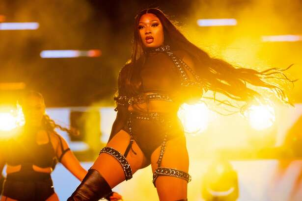 "Megan Thee Stallion performs onstage during Day 2 of ""Red Rocks Unpaused"" 3-Day Music Festival presented by Visible at Red Rocks Amphitheatre on September 02, 2020 in Morrison, Colorado. (Photo by Rich Fury/Getty Images for Visible)"
