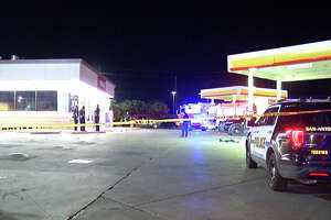 San Antonio police are trying to piece together what happened after one person was killed and two more injured in a shooting at a South Side gas station Thursday morning.