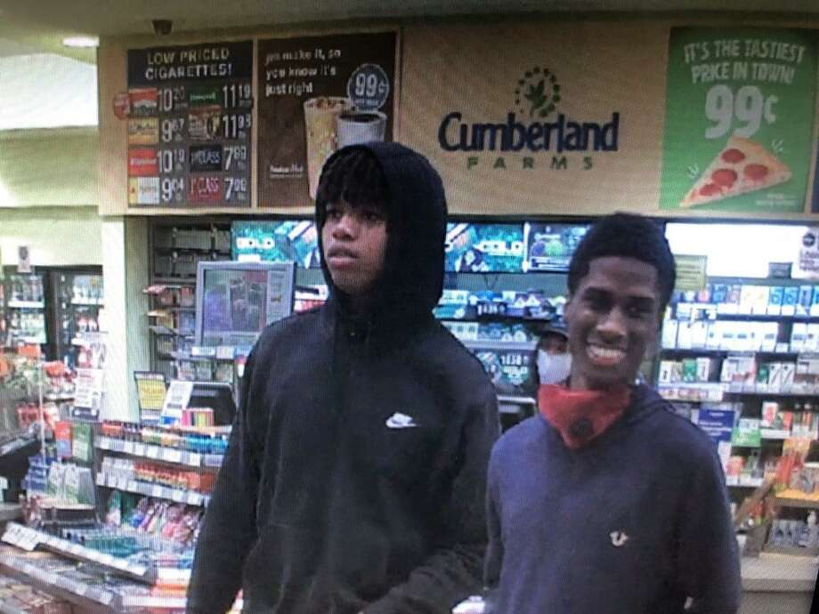 Police ask anyone with information on these suspects' identities to call the department's main line or its confidential tip line. Photo: Contributed Photo / Naugatuck Police Department