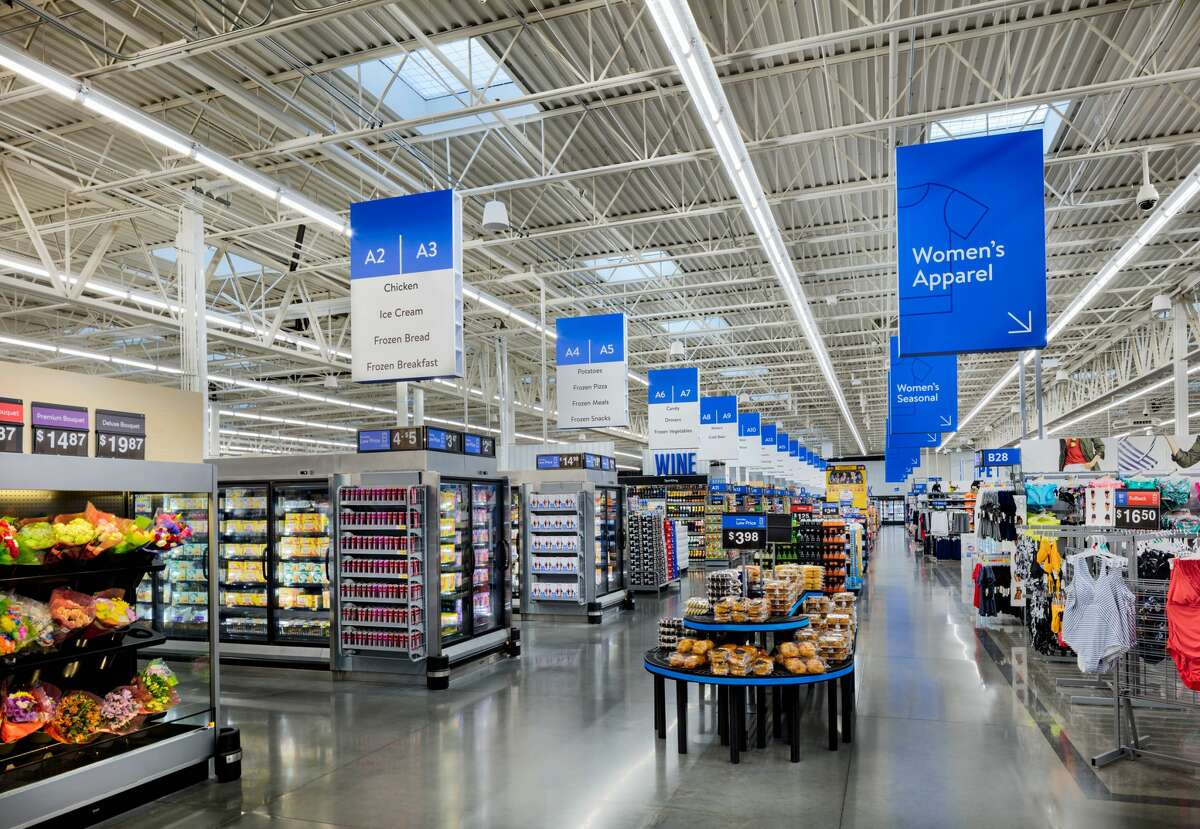 Walmart said it was inspired by airport wayfinding systems as best-in-class examples of how to direct large groups of people which help us move customers through the store more quickly.