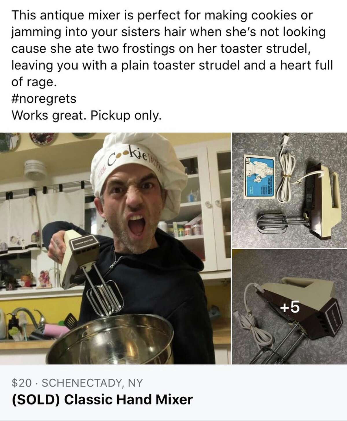 Nick DeMartino, 38, of Rotterdam is a local Facebook Marketplace legend, generating hundreds of reactions, comments on shares on his items.